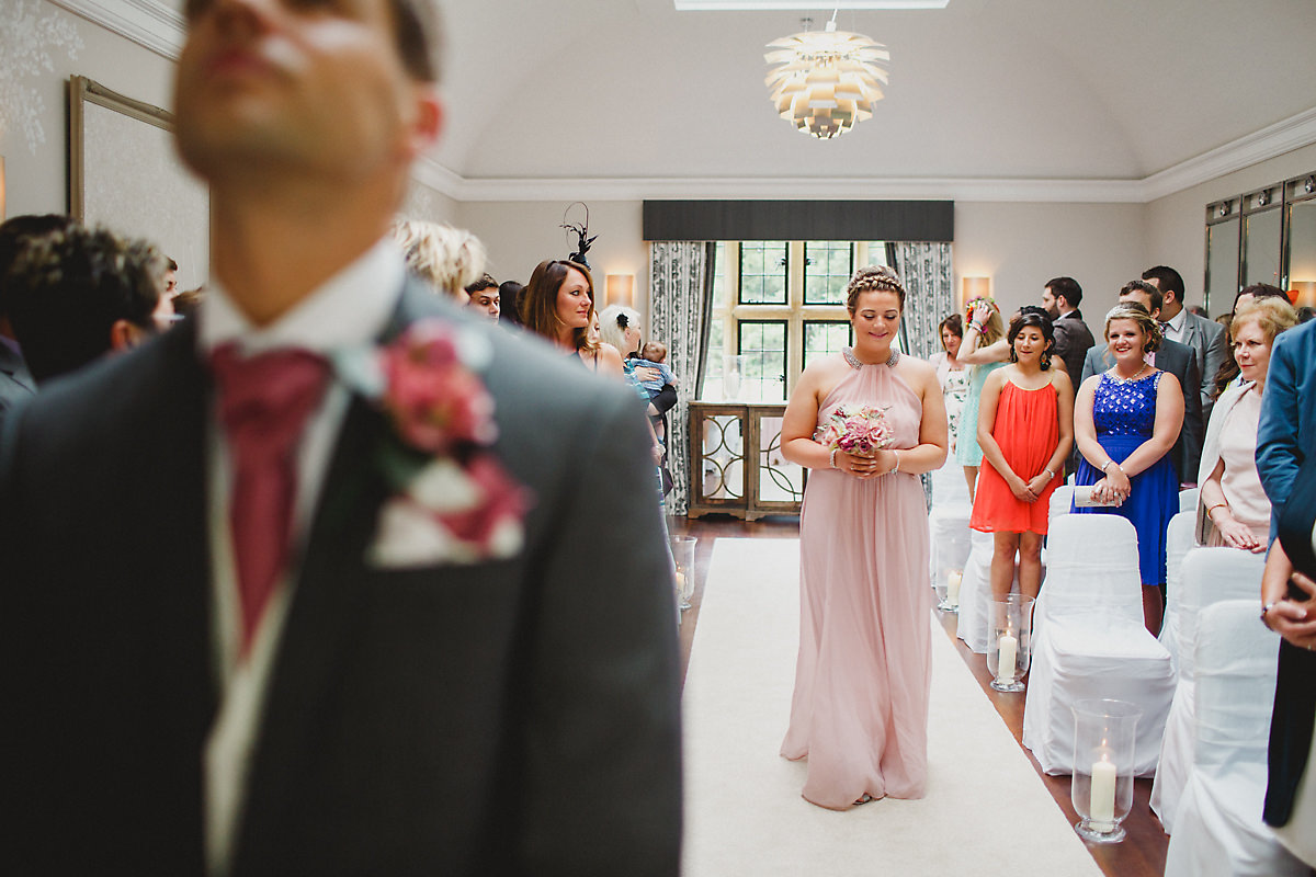 Arrival of the bridesmaid Foxhill Manor