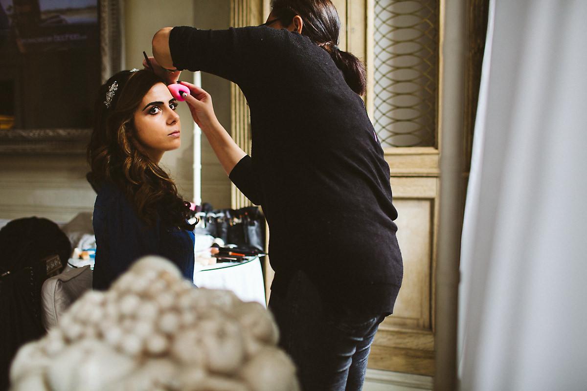 Bridal make up Blakes Hotel