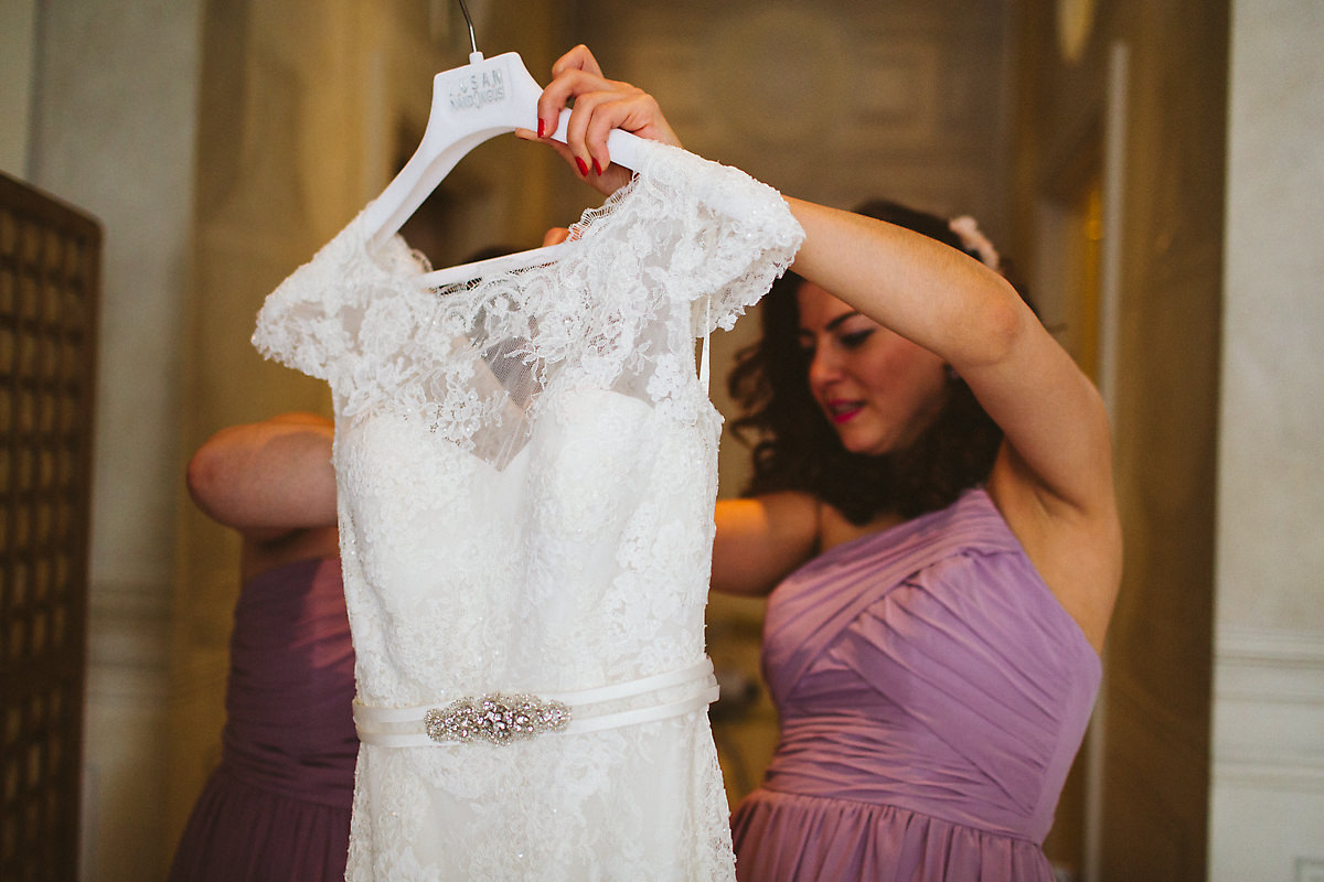 White wedding dress Kensington