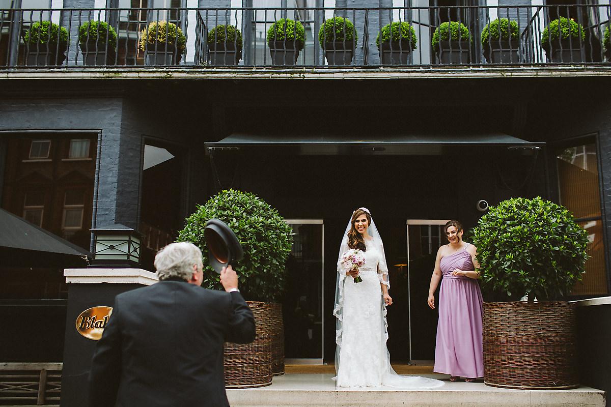 Bridal exit Blakes Hotel