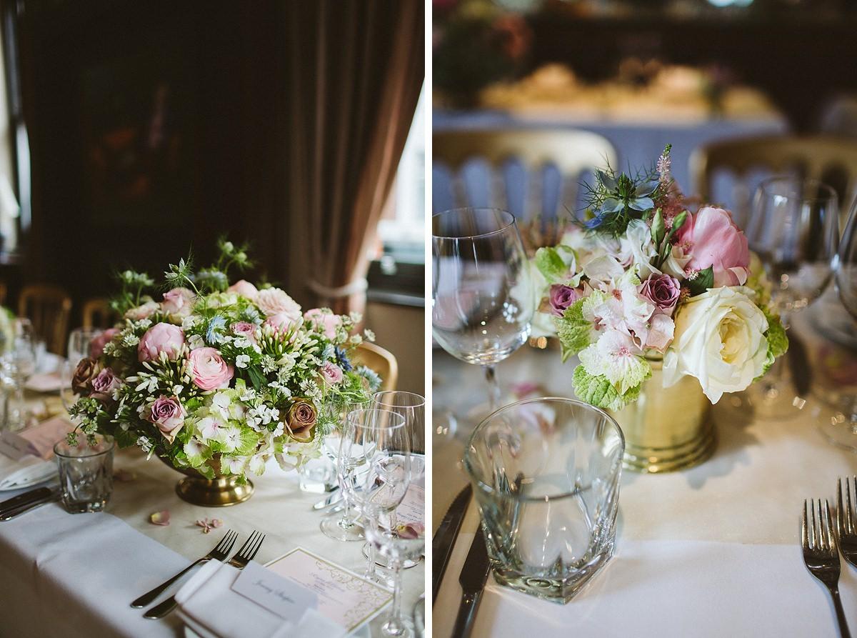 London Beaufort House Wedding Reception decorations