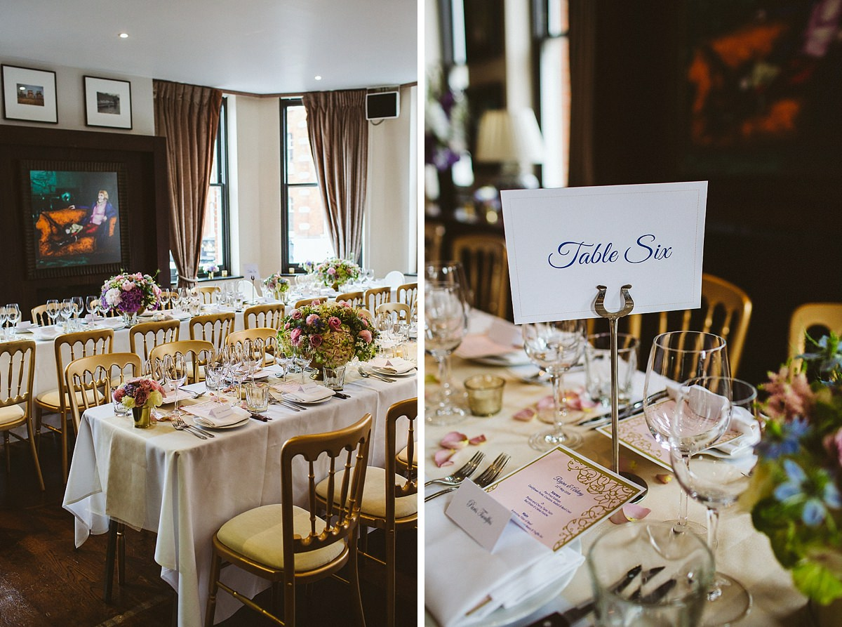 London Beaufort House Wedding Reception table names