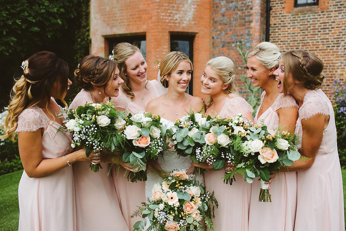 Chenies Manor Wedding bridesmaids photo