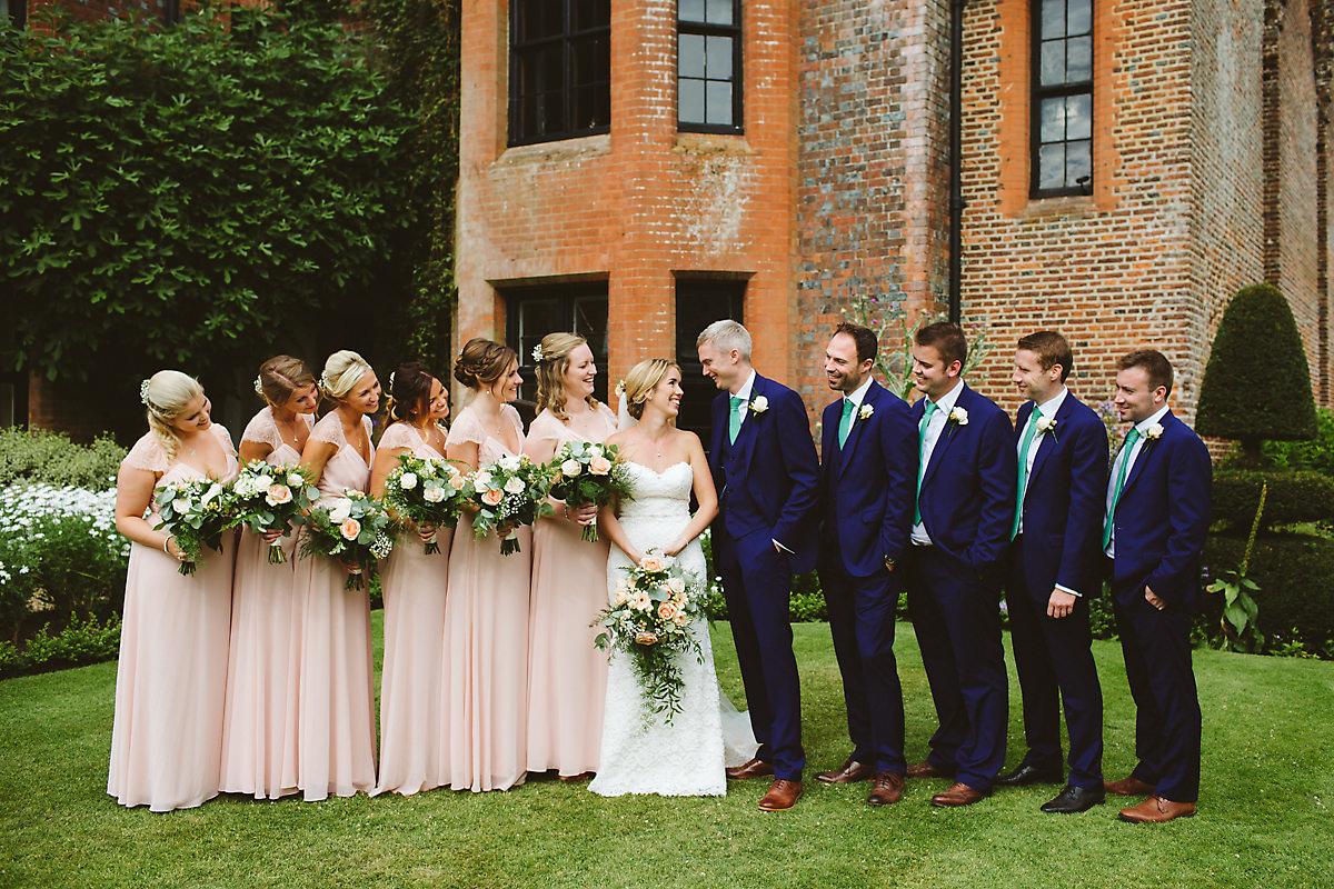 Chenies manor wedding bridal party