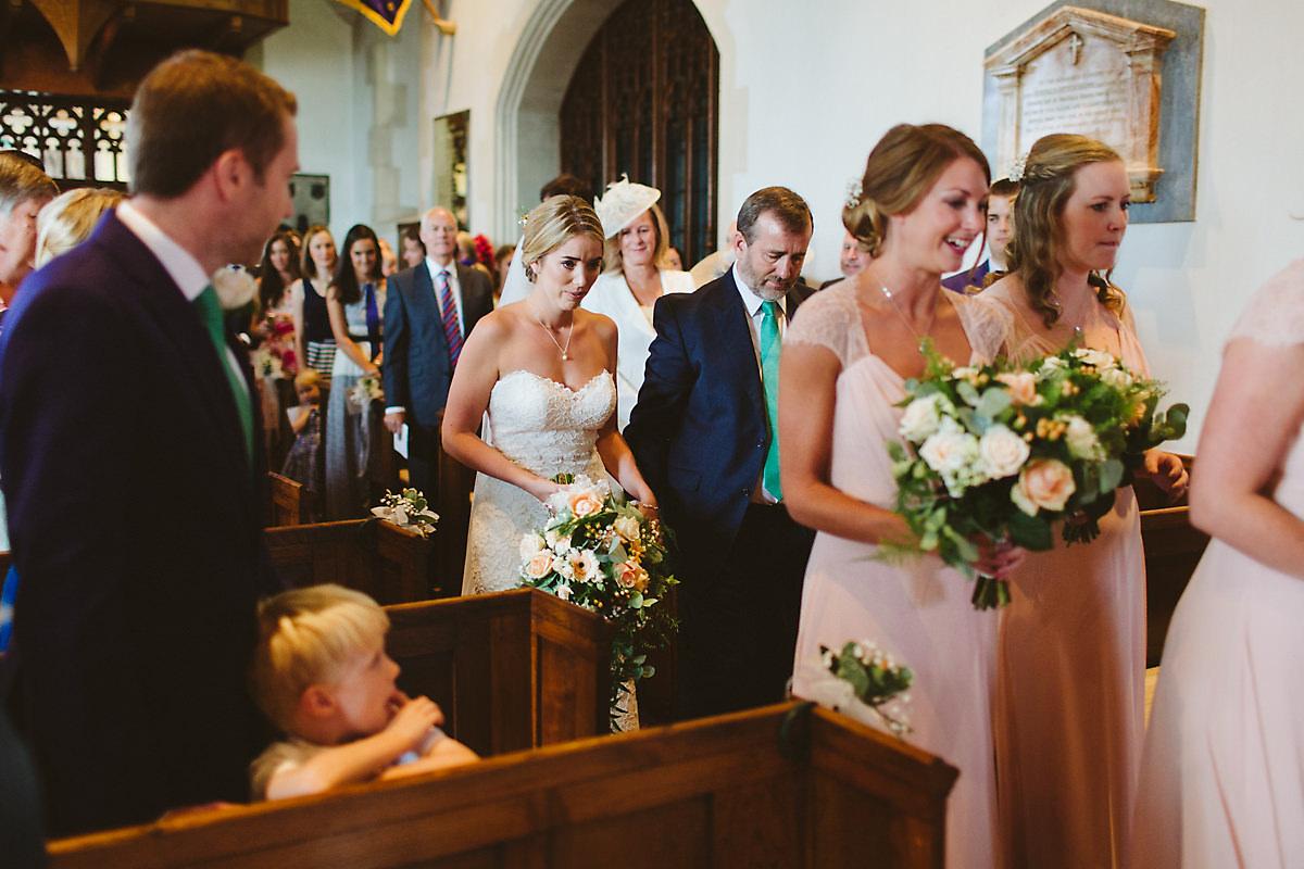 Chenies church wedding bride