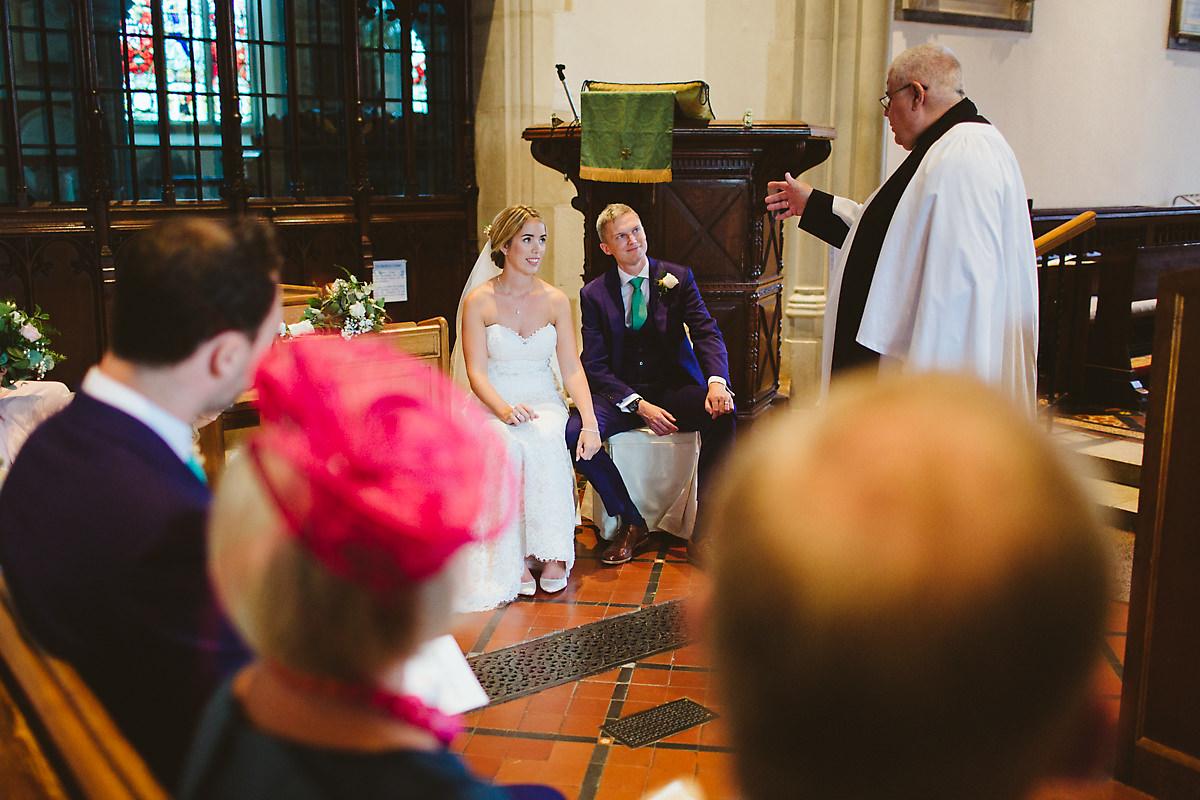 Chenies church wedding ceremony
