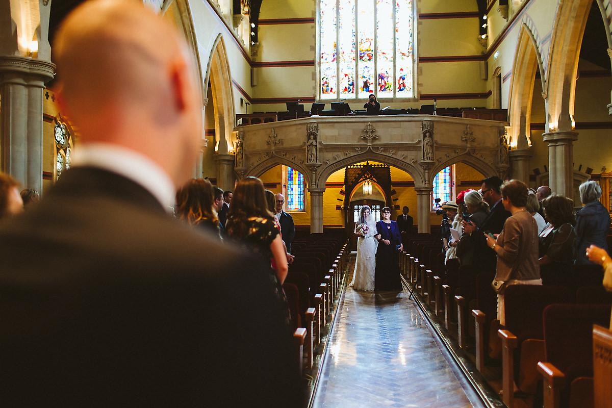 Bride entry at Armenian church