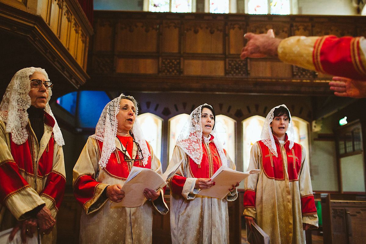 Singing Armenian church photography