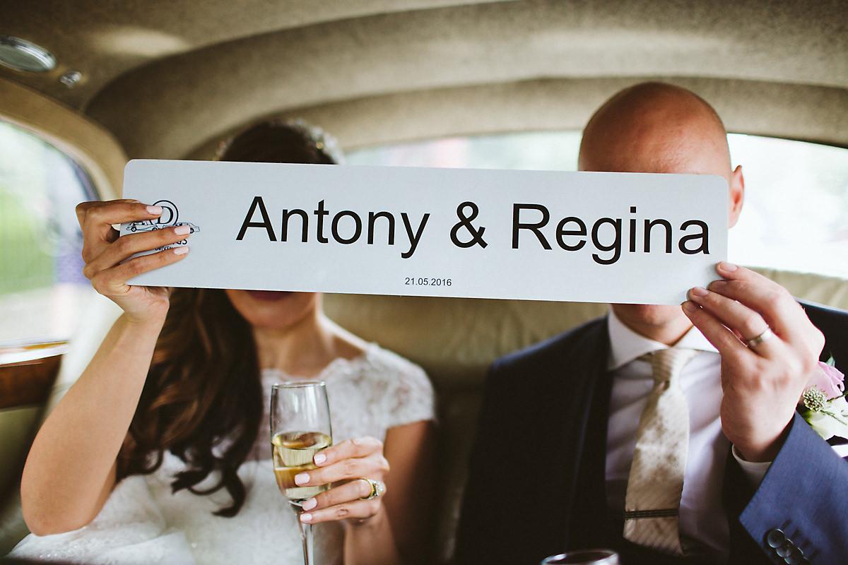 Personalised wedding car number plate London