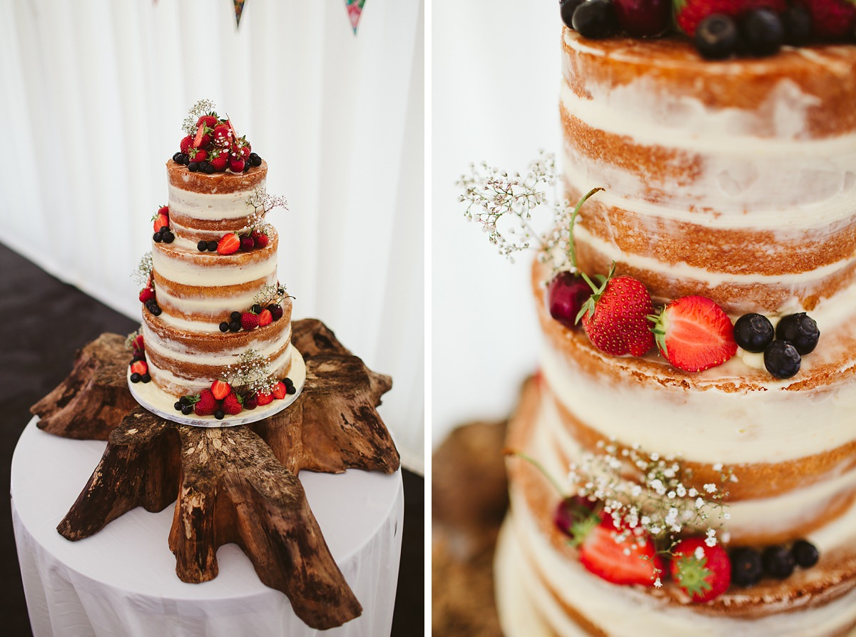 Naked wedding cake ideas