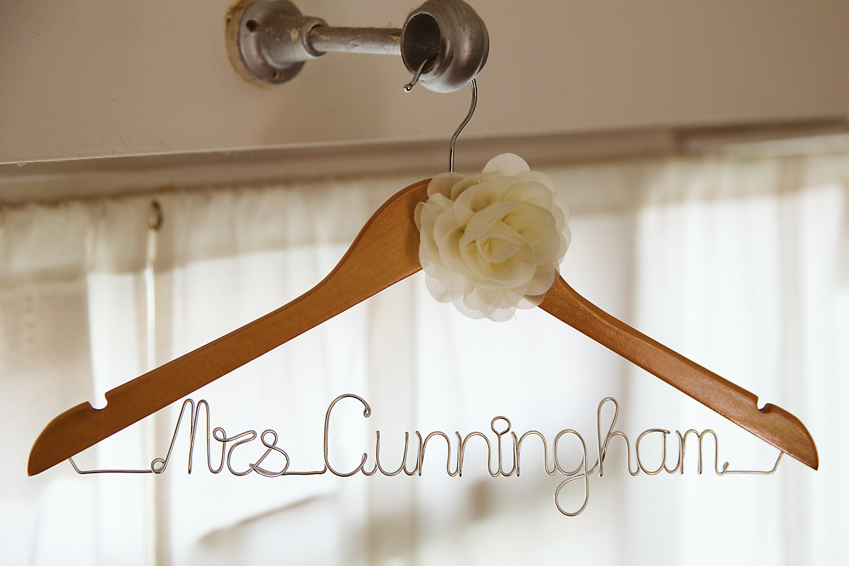 Personalised bride dress hanger