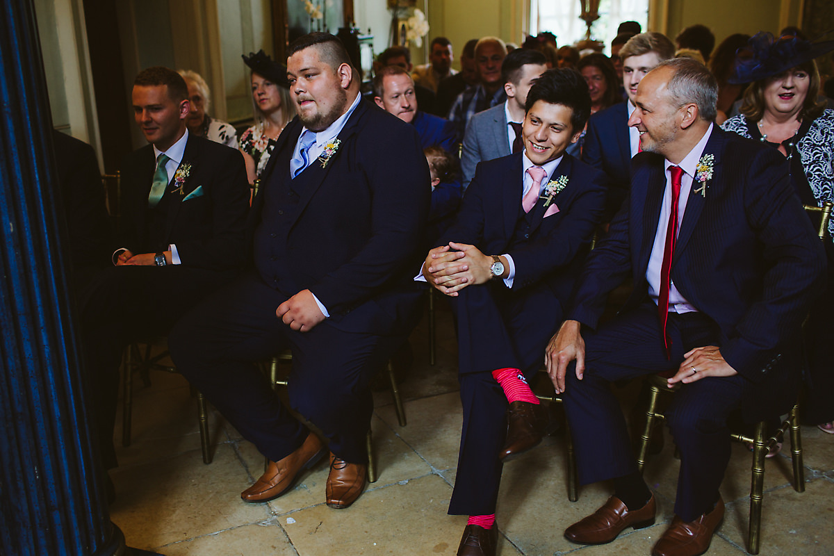 Groomesmen during ceremony