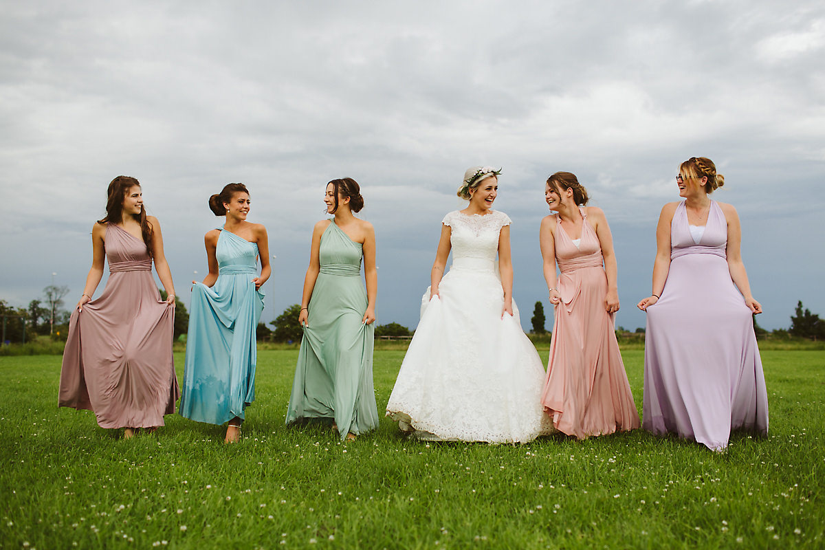 Bridesmaids group photo