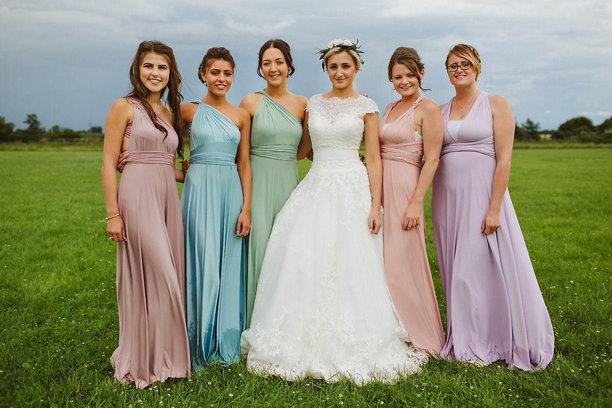 Bridesmaids group photography