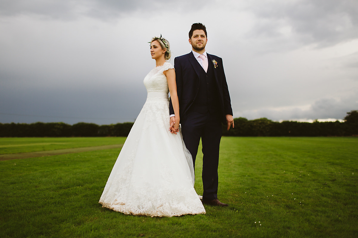 Moody wedding portrait photography