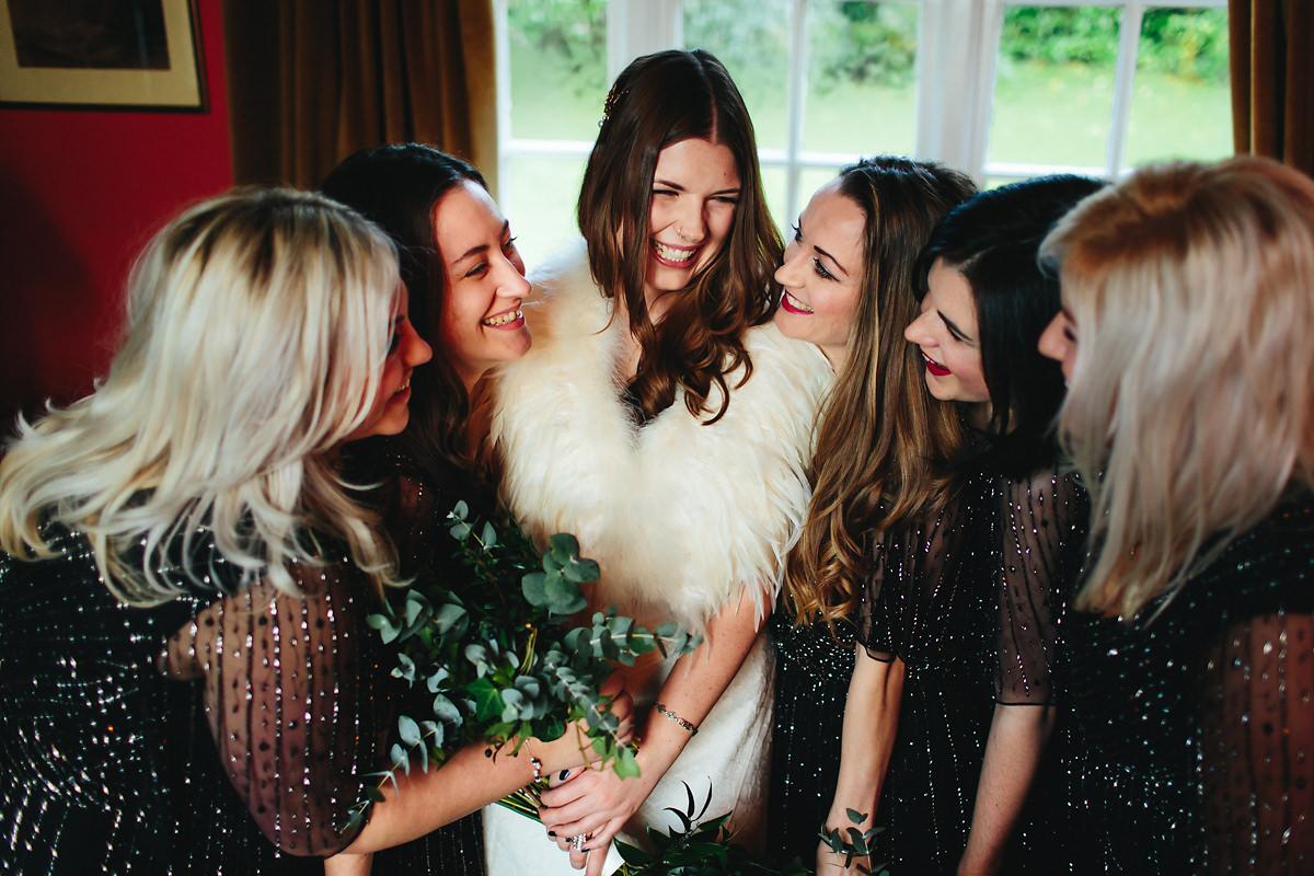 Amersham kings chapel wedding photography by eneka stewart autumn bridesmaids dresses ombrellifo Images