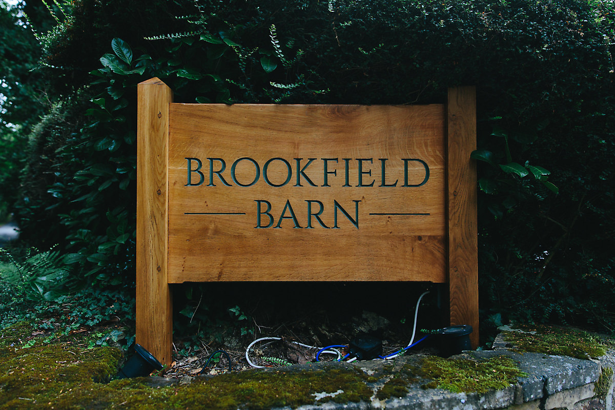 Brookfield barn wooden sign