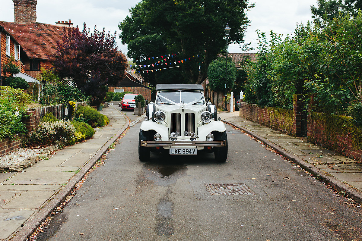 Vintage wedding car Sussex