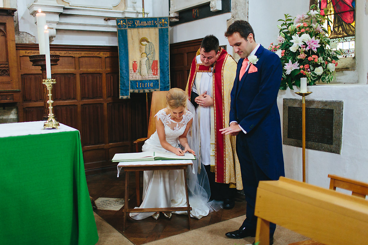 Wedding ceremony and signing of registrar