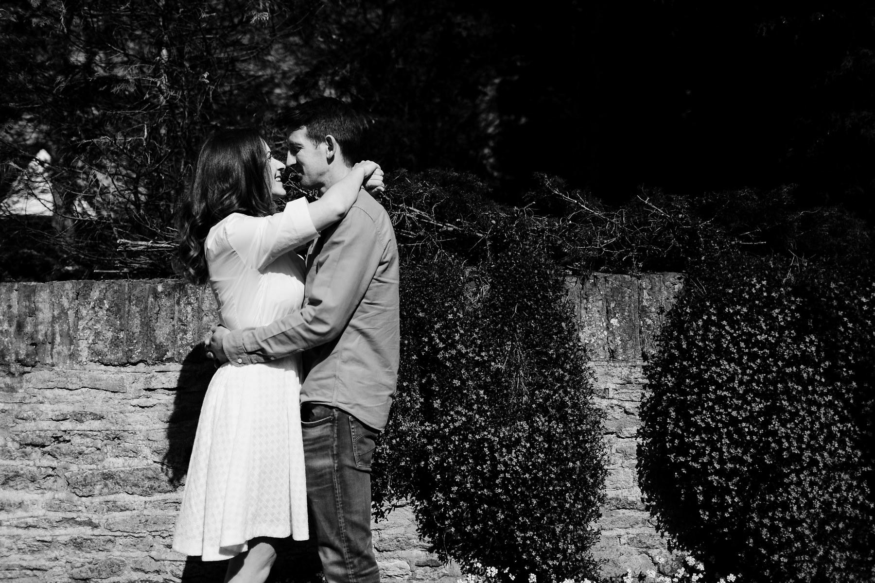 Black and white Buckinghamshire pre wedding photography