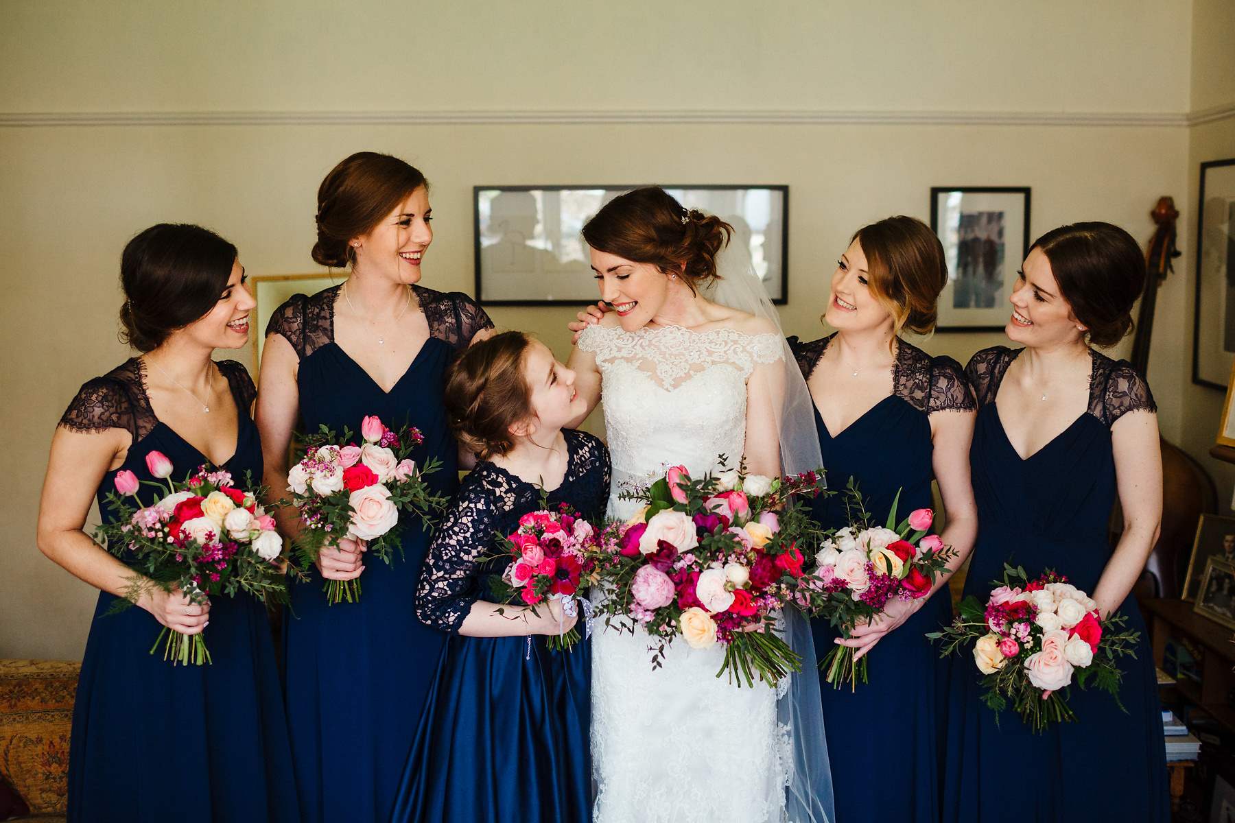 Bridesmaids before wedding ceremony photo