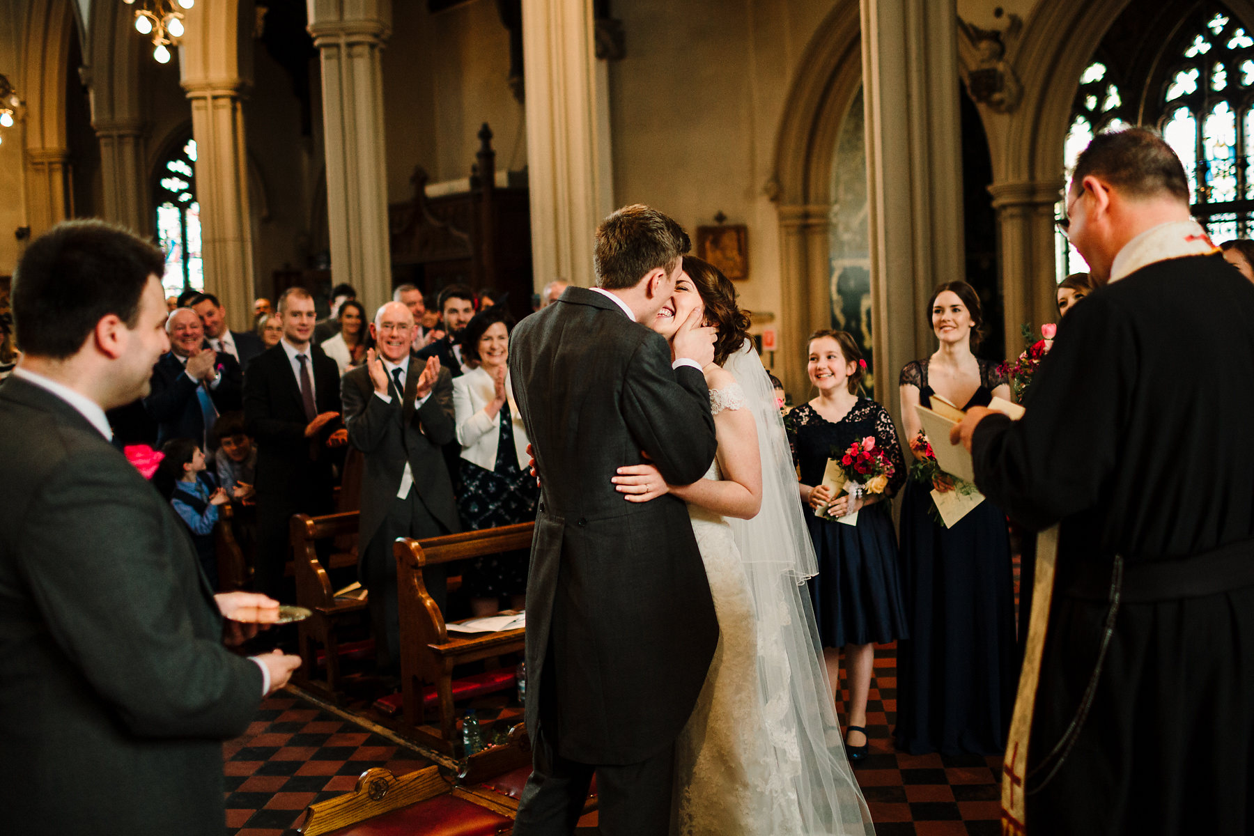 Clapham Common church wedding ceremony photography