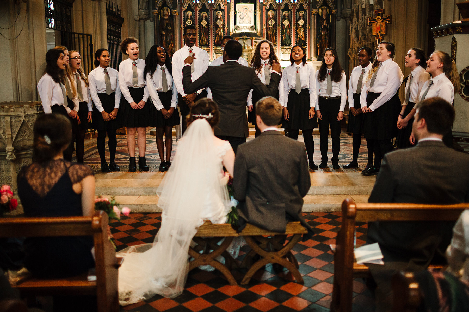Clapham Common church wedding choir