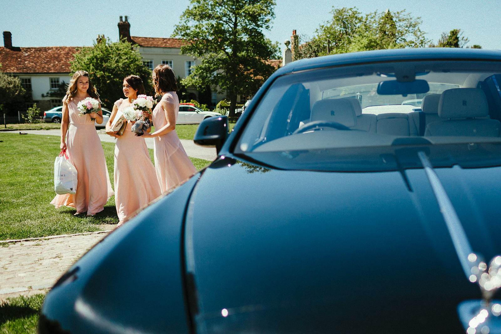Arrival of bridesmaids in Haddenham