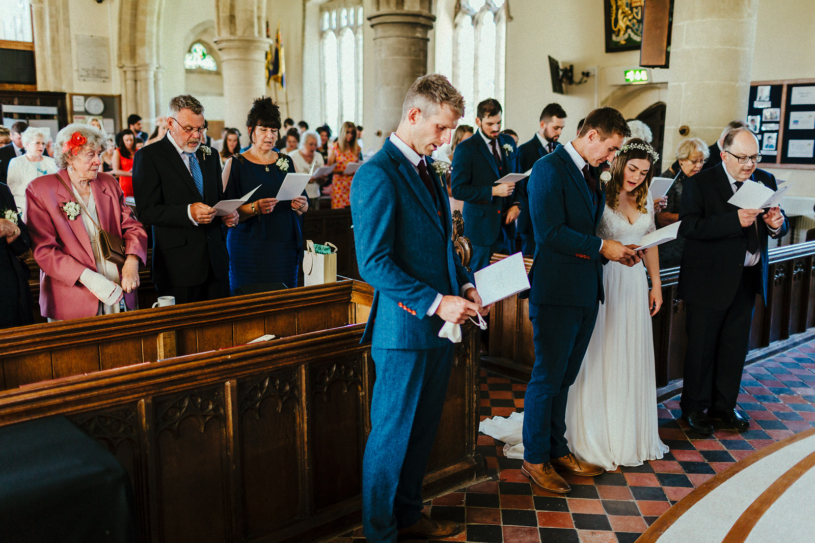 First hymn at wedding ceremony photo