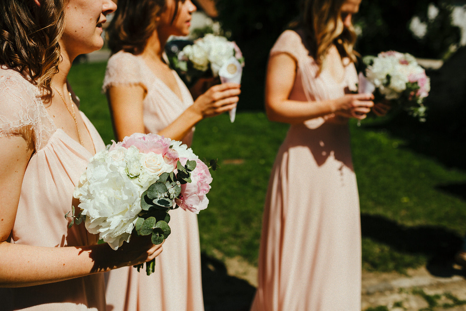 Bridesmaid pink dresses