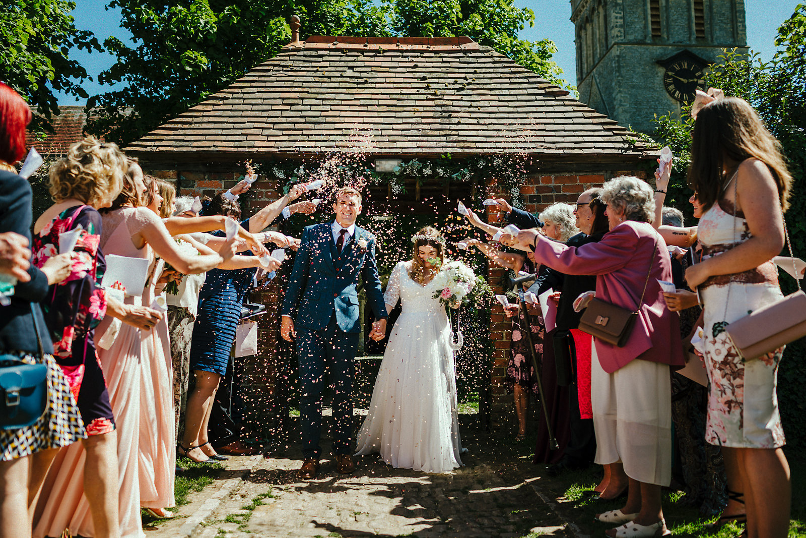 Confetti at Haddenham church