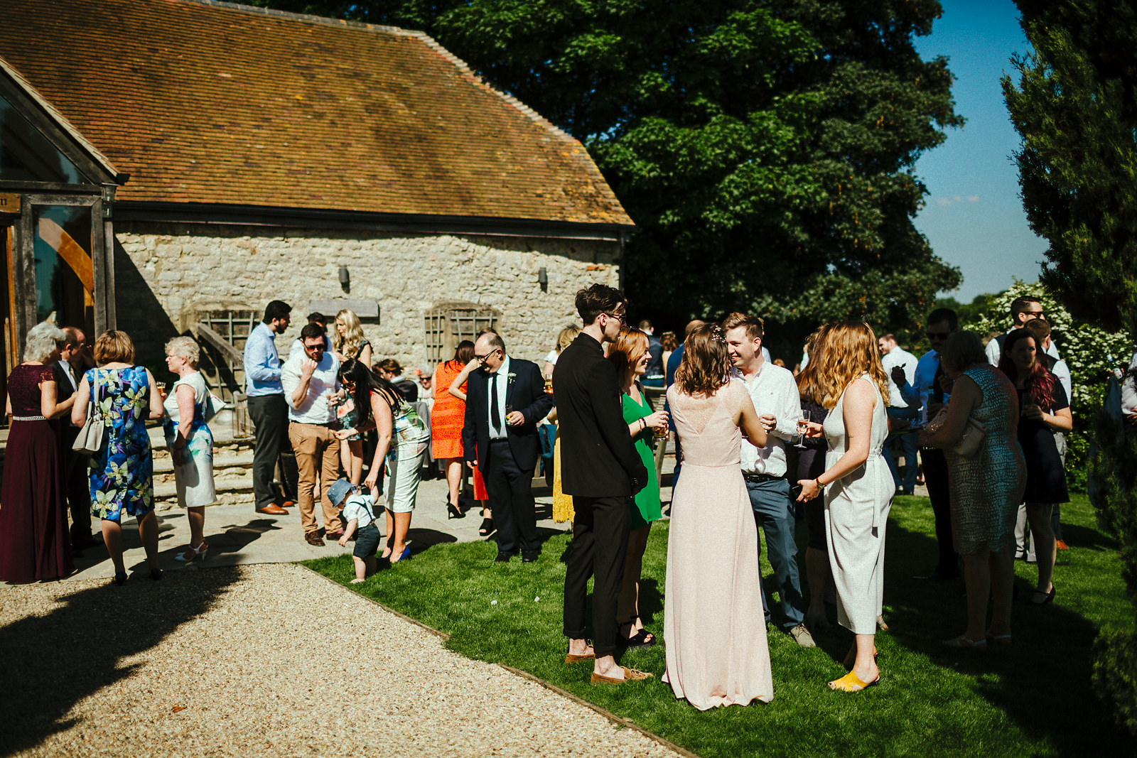 Receptions drinks at Notley Tythe Barn