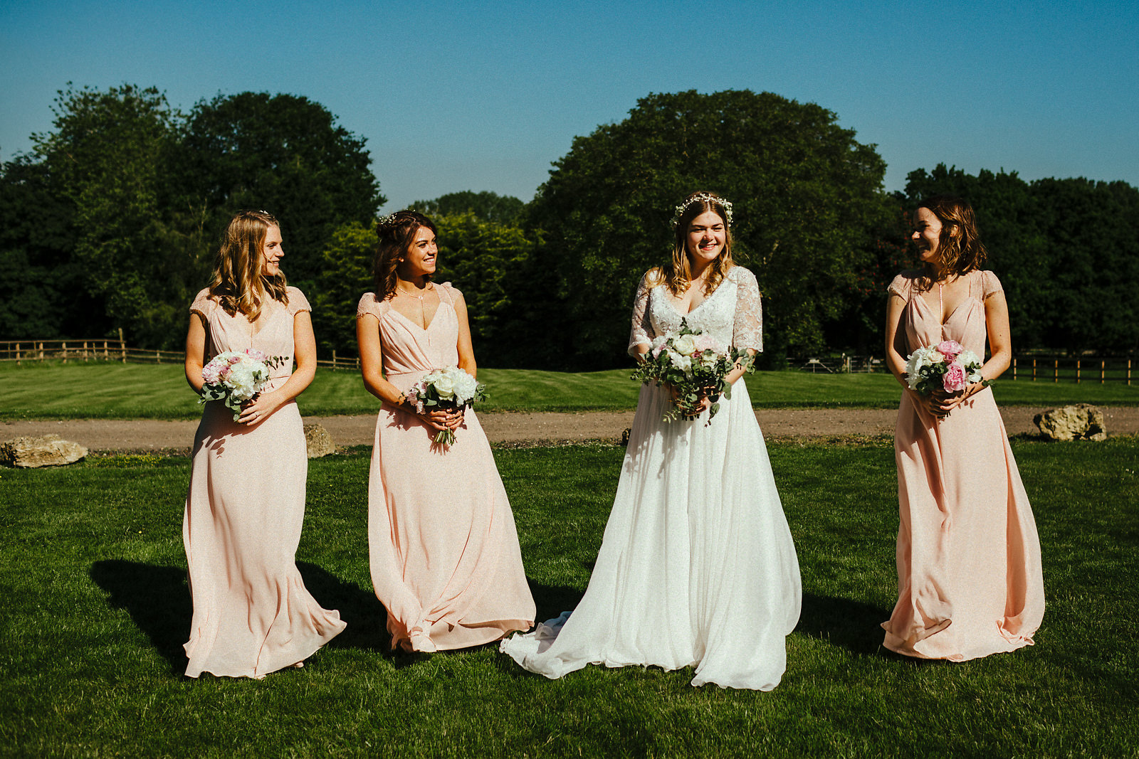 Bridesmaid group photo