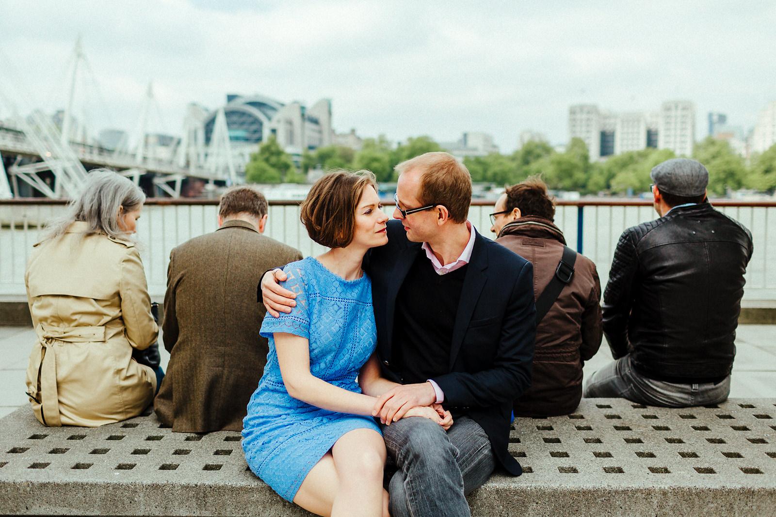 Fun Southbank pre wedding photo
