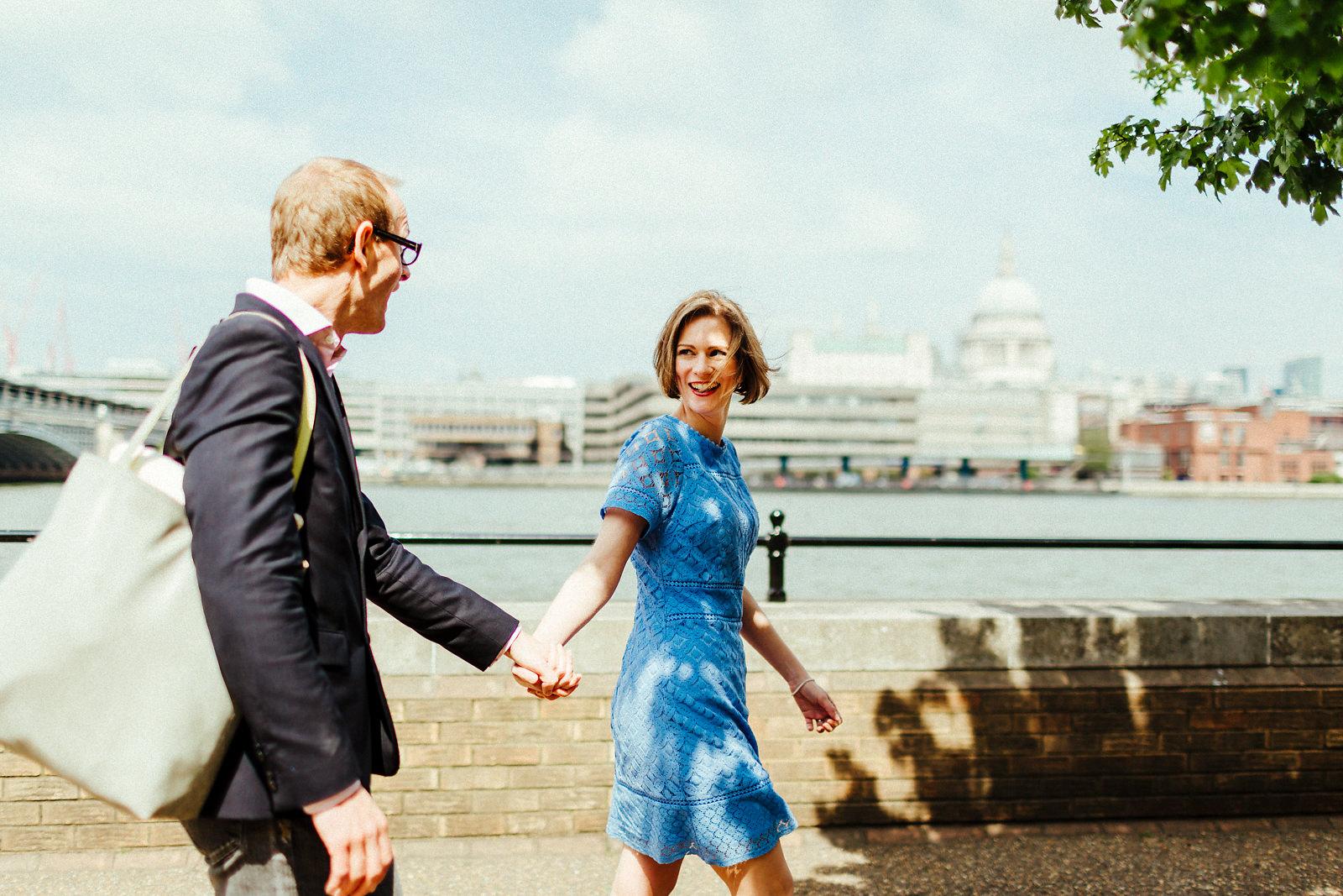 Natural London Southbank pre wedding photography