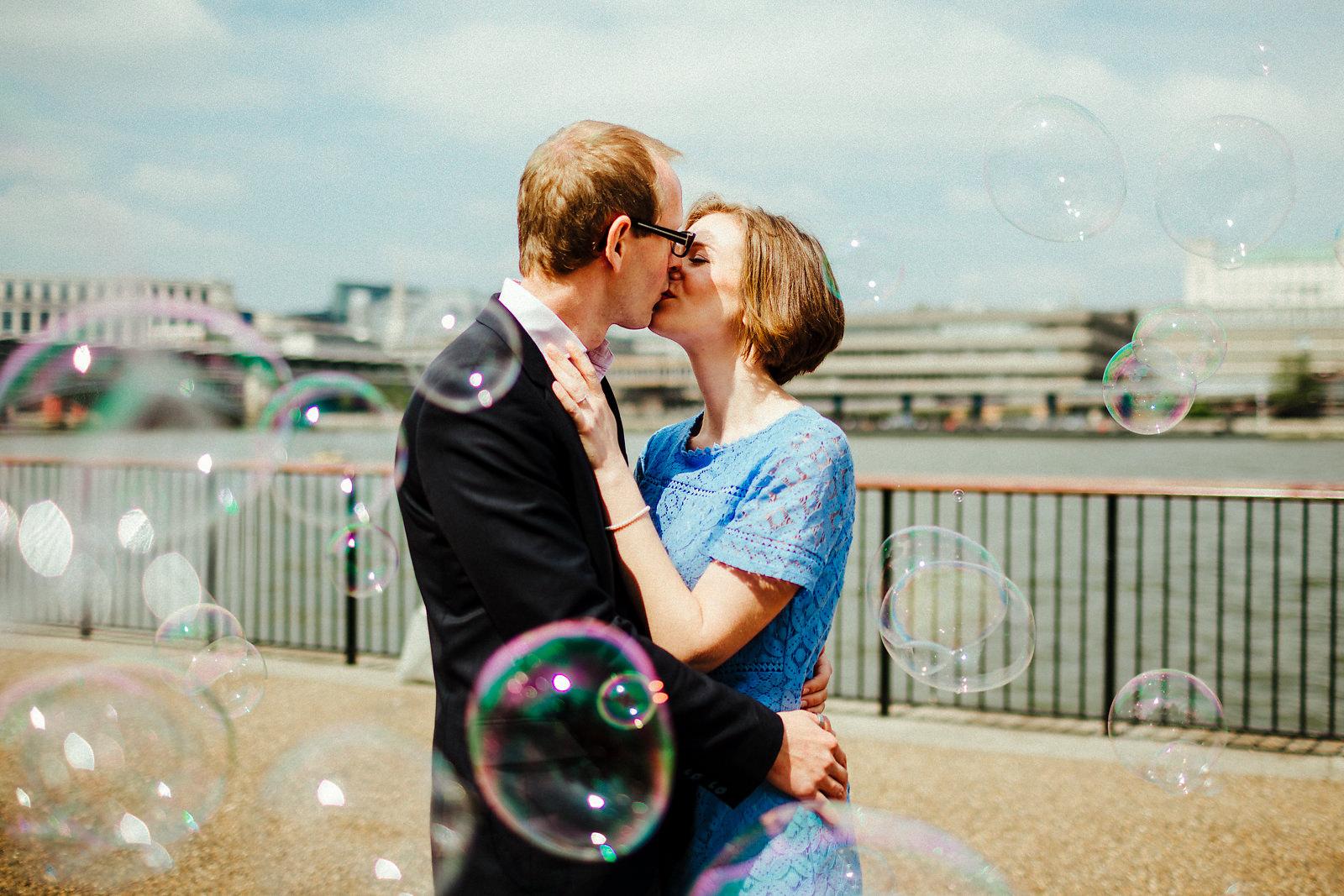 Creative London Southbank pre wedding photography