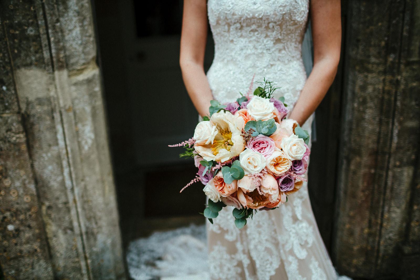 Multicoloured wedding bouquet