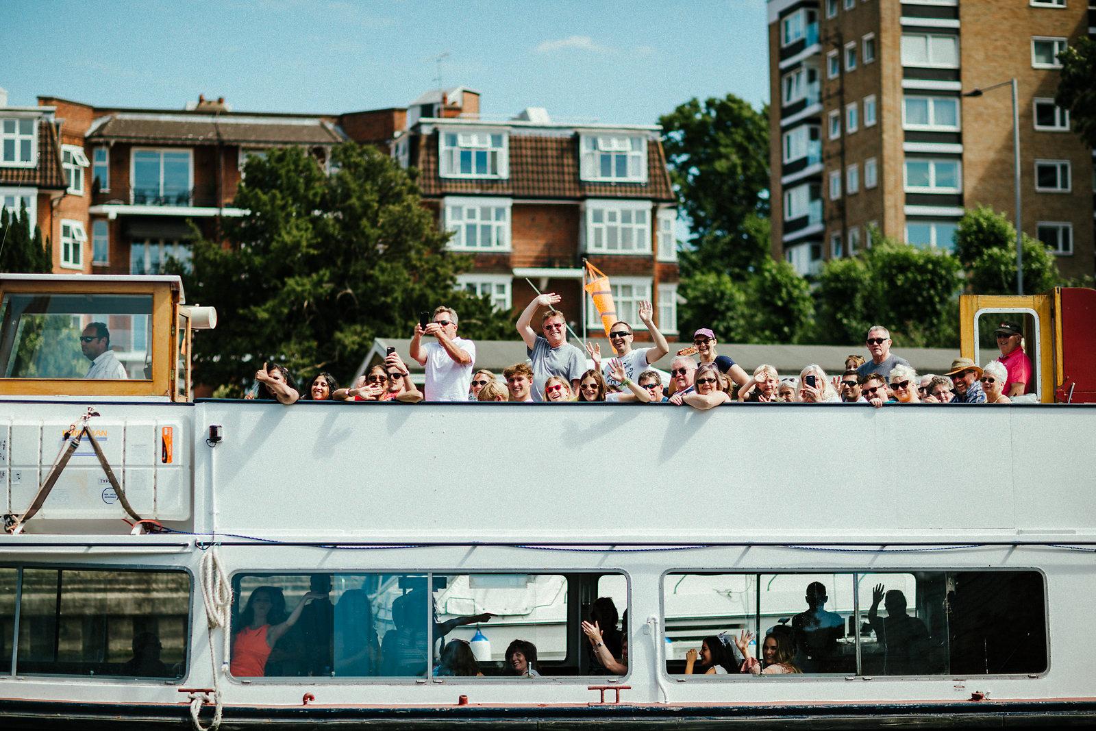 Cruising on Thames river