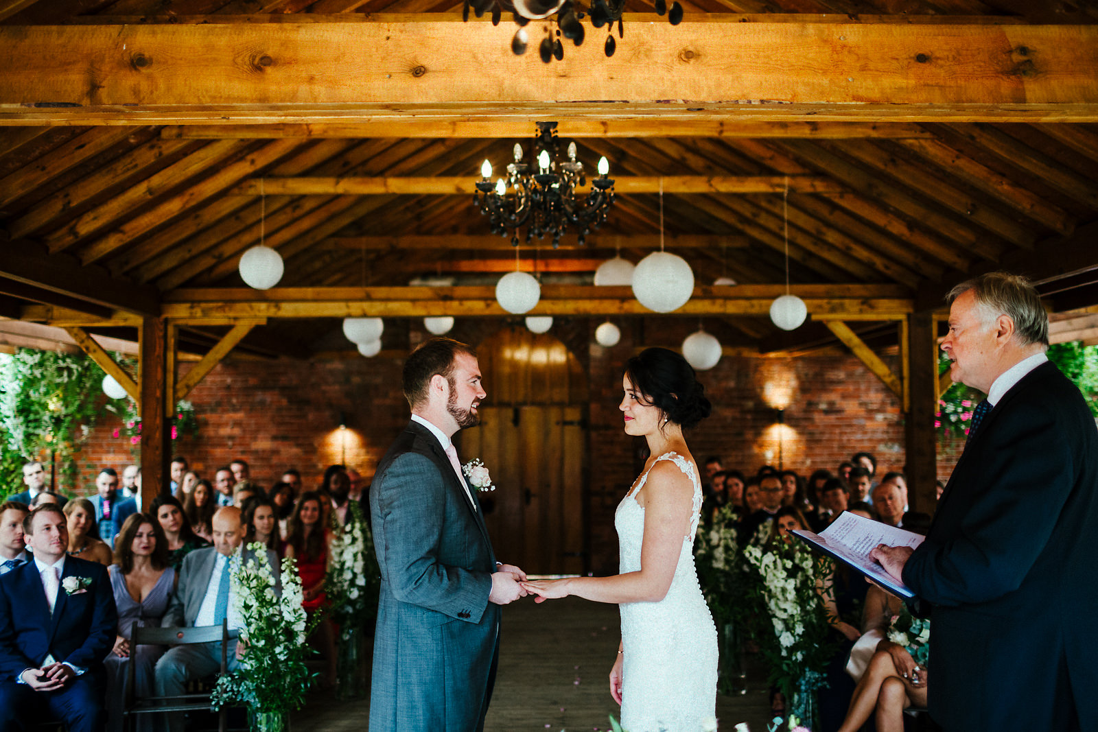 Wedding ceremony at Orchardleigh walled garden