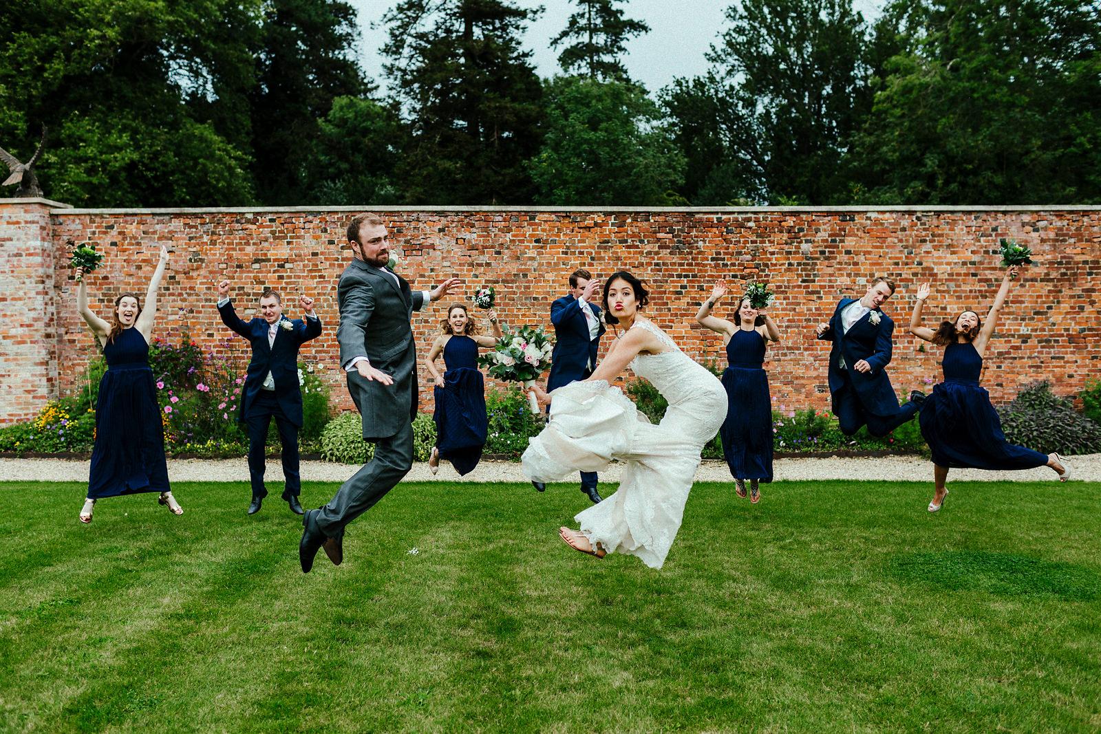 Fun Orchardleigh Walled Garden wedding photography