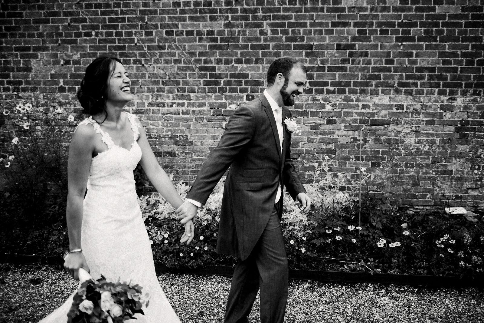 Fun Orchardleigh Walled Garden wedding photographer