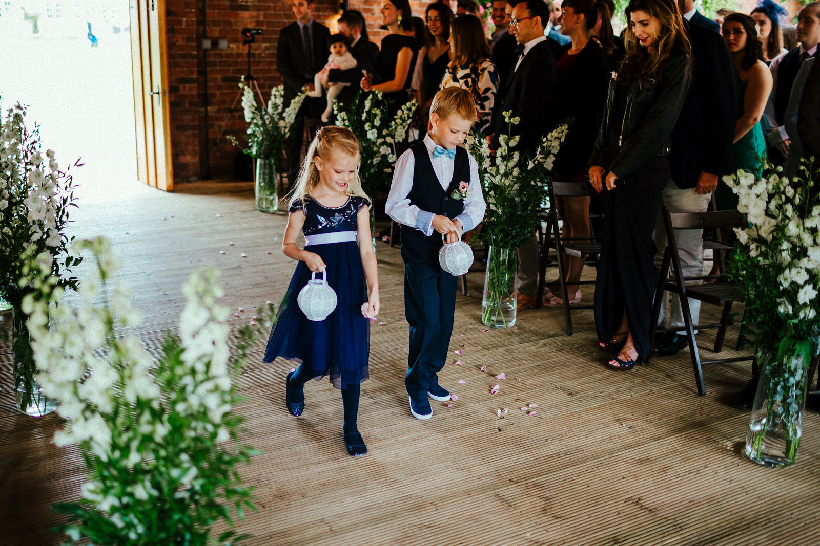 Pageboy and flowergirl blue outfits