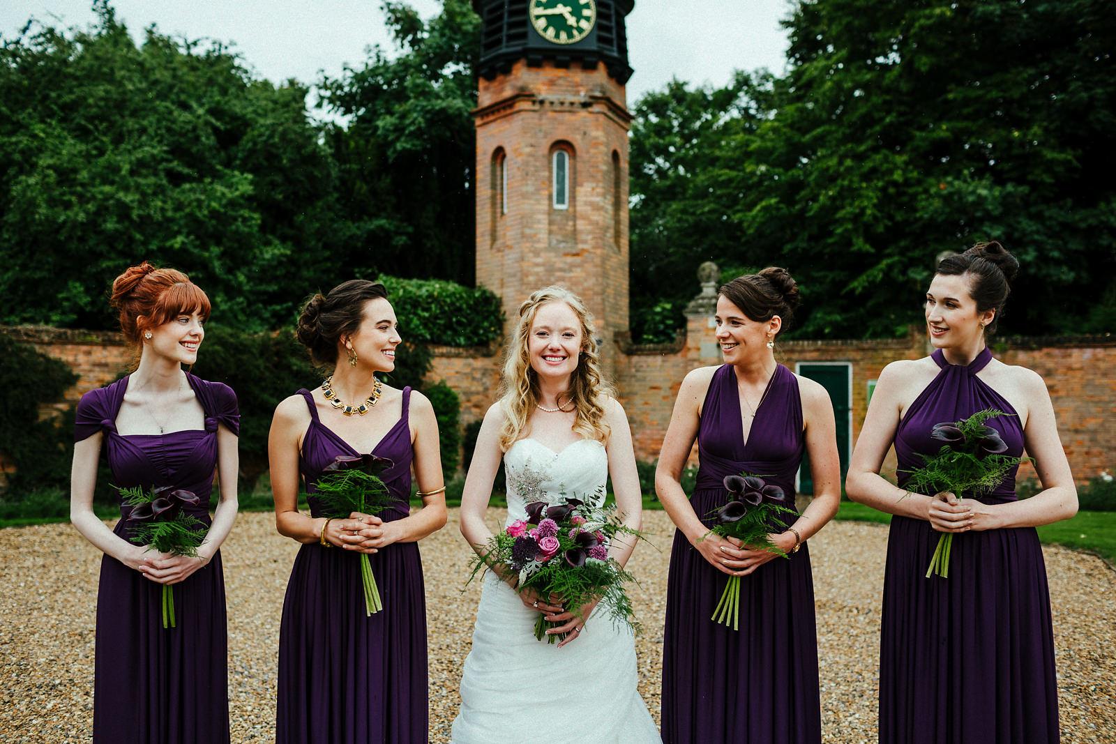 Tudor barn bridal party group photo idea