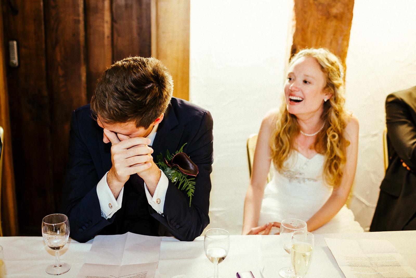 Fun wedding speeches at the Tudor Barn