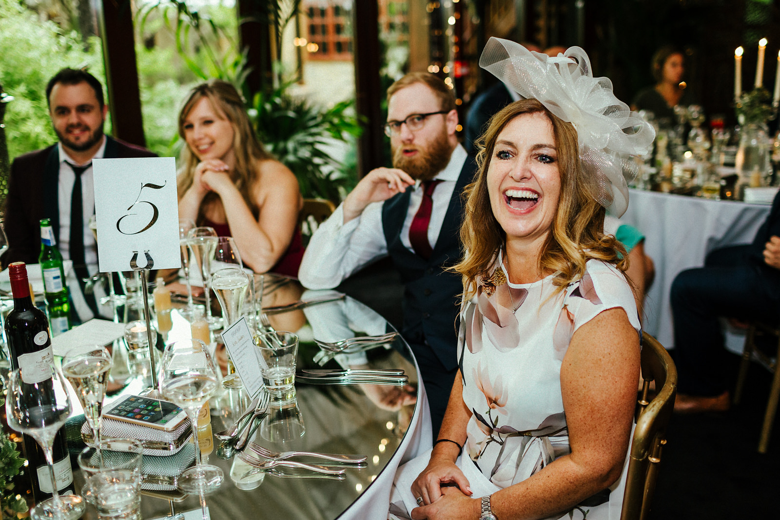 Wedding speeches at Crazy Bear