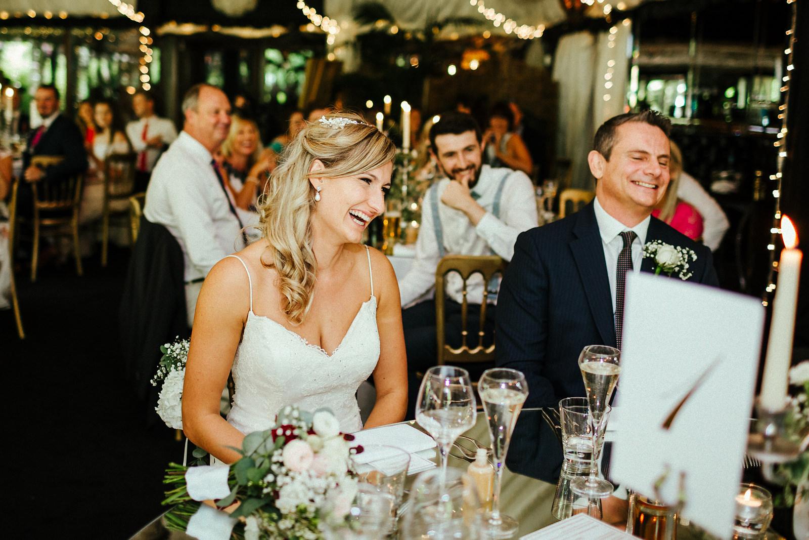 Natural wedding photos at Crazy Bear Stadhampton