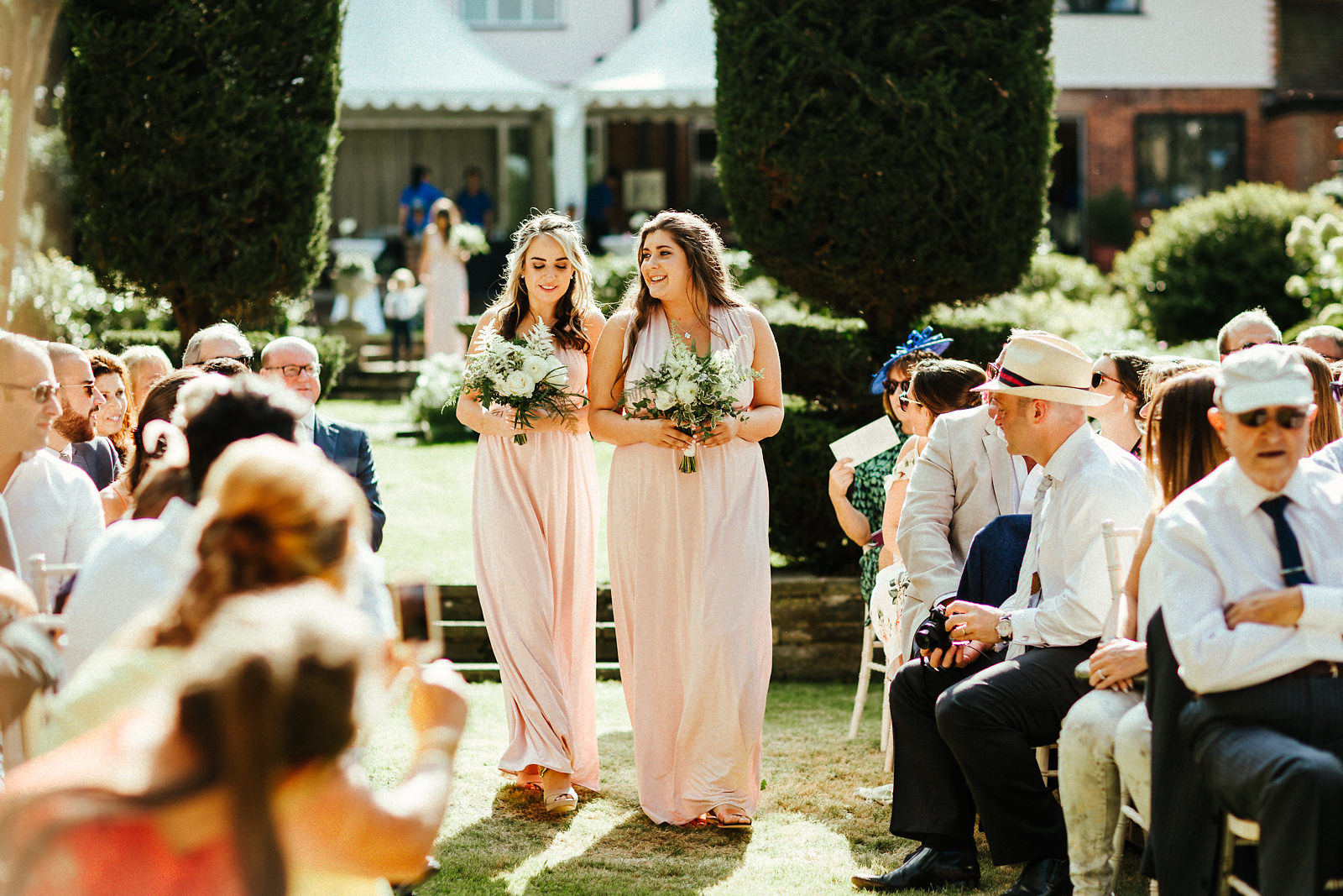Arrival of bridesmaids