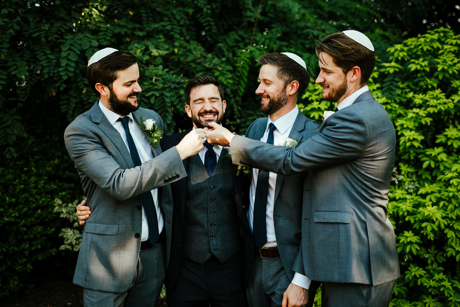 Group photos with groom and his brothers