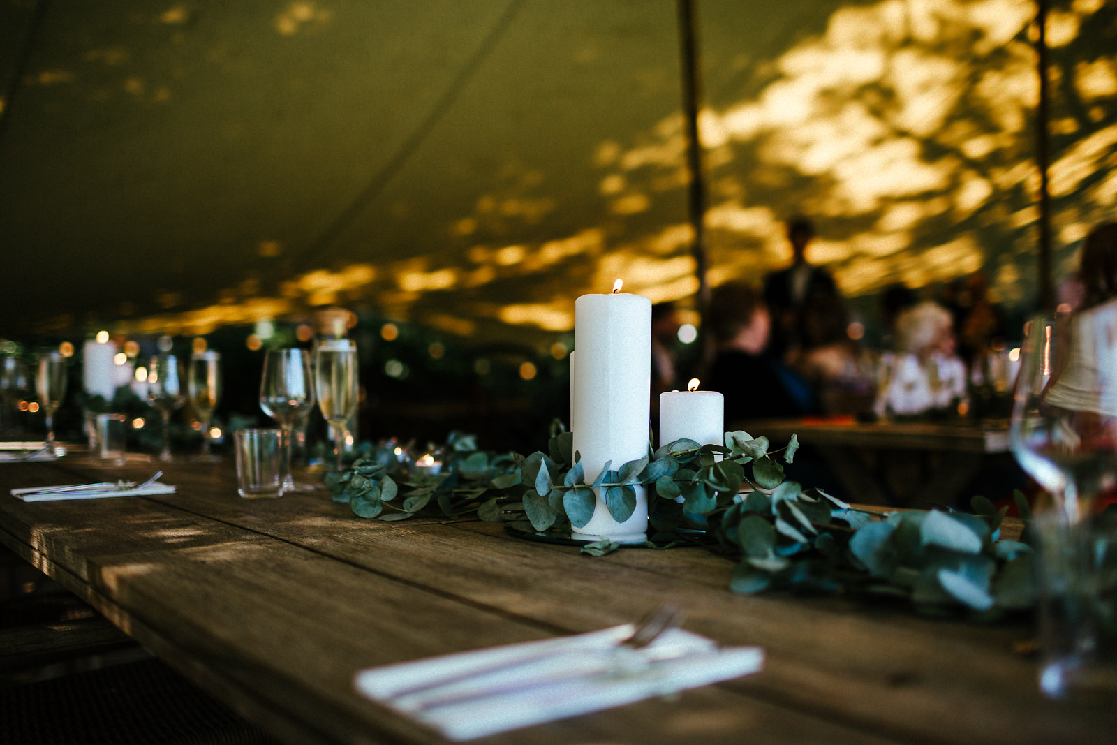 Beautiful outdoor tipi style tables