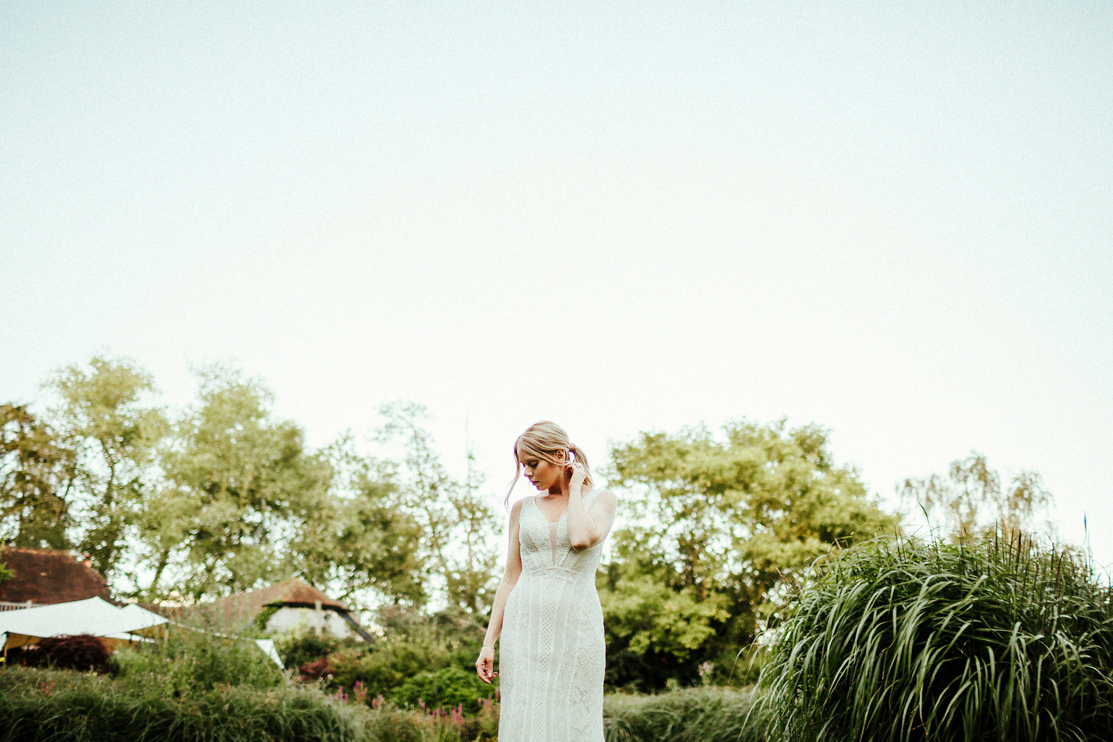 Stunning bride at the Copse